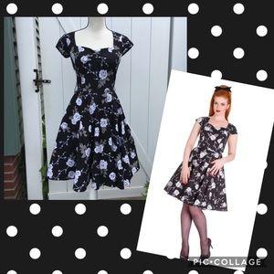 Hell Bunny Vixen Natalia Rockabilly Dress Size L